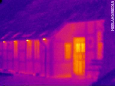 Thermografische Messung eines Fachwerkhauses